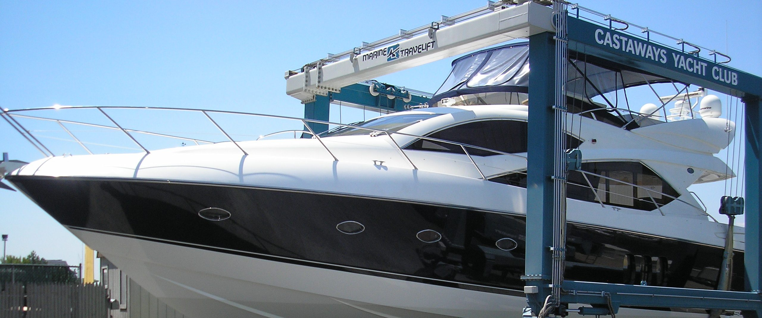 Yacht being stored