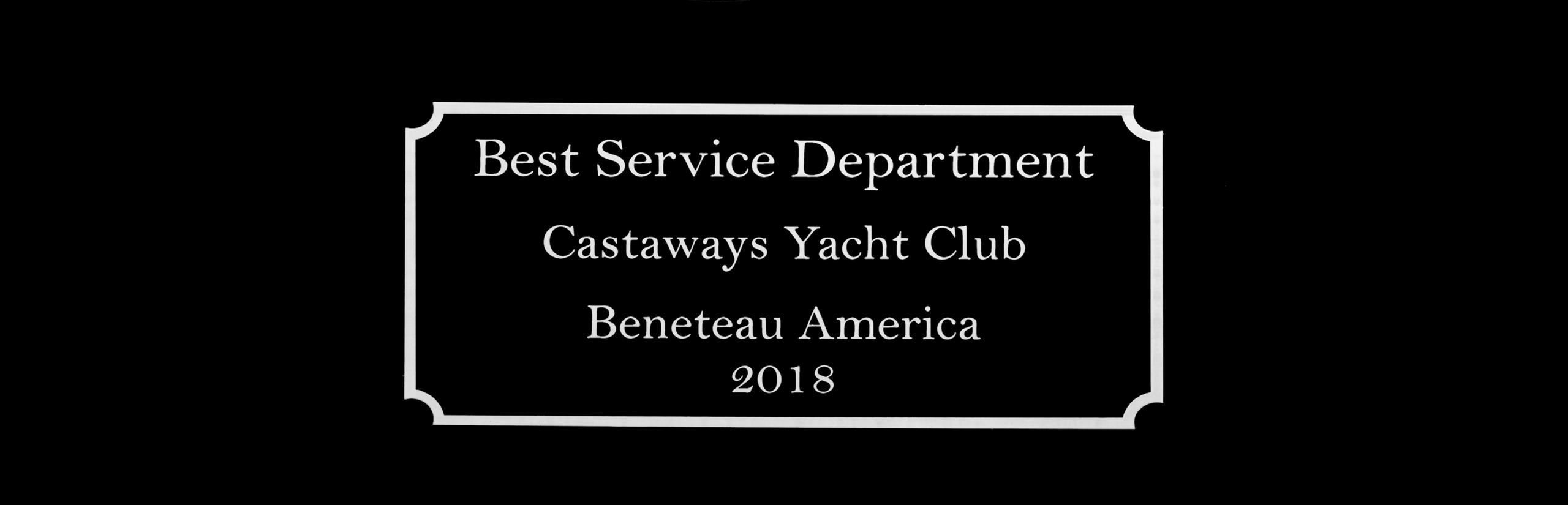 2018 Beneteau Best Service Department Award